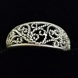 Silver Filigree Adjustable Toe Ring